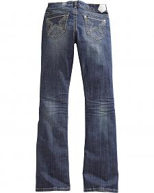 Tin Haul Women's Dolly Celebrity Star Stitch Bootcut Jeans