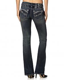 MIss Me Signature Fit Zig Zag Jeans - Straight Fit