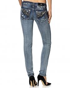 Miss Me Angle Embroidered Narrow Fit Jeans - Skinny Leg