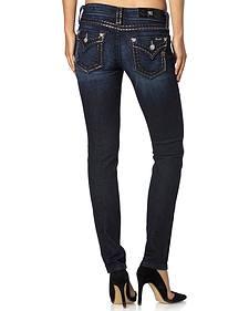 Miss Me Stitch Trim Narrow Fit Jeans - Skinny Leg