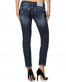 Miss Me Women's Fray Crop Skinny Jeans - Extended Sizes