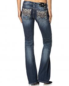 Miss Me Signature Fit Aztec-Embroidered Jeans - Boot Cut