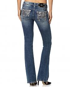 Miss Me Slim Fit Aztec Back Pocket Jeans - Boot Cut