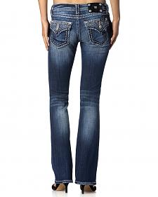Miss Me Studded Pocket Bootcut Jeans