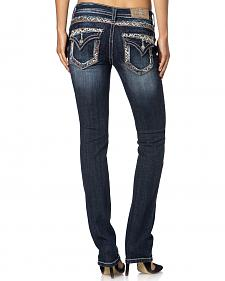 Miss Me Women's Embellished Straight Leg Jeans