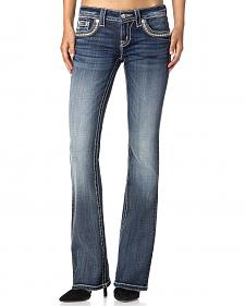 Miss Me Women's Fair & Square Bootcut Jeans