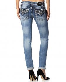 Miss Me Women's Wild Cat Cuffed Skinny Jeans