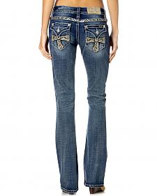 Miss Me Women's Gold Cross Bootcut Jeans
