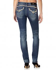 Miss Me Women's Gold Standard Straight Leg Jeans