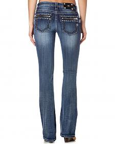 Miss Me Women's Zipper Pocket Bootcut Jeans