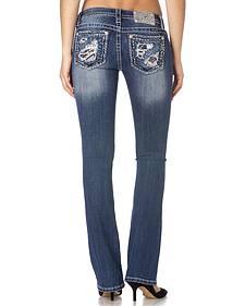 Miss Me Women's Twinkling Memories Bootcut Jeans