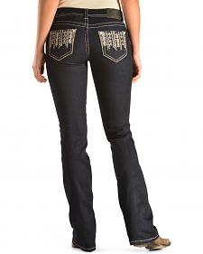 Grace in L.A. Women's Minna Classic Bootcut Embellished Pocket Jeans