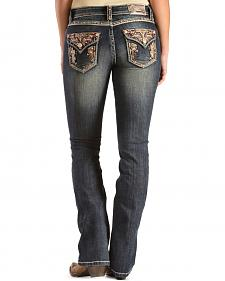 Grace in L.A. Women's Naria Bootcut Embellished Pocket Jeans