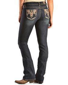 Grace in L.A. Women's Fala Bootcut Scrolled Pocket Jeans