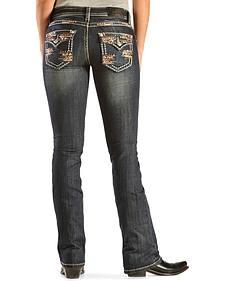 Grace in L.A. Women's Plum Bootcut Embellished Jeans