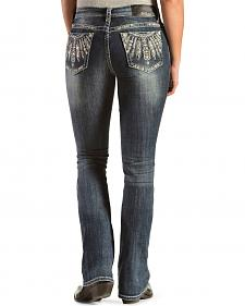 Grace in L.A. Women's Silver Headdress Easy Fit Jeans - Extended Sizes