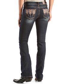 Grace in L.A. Inali Aztec Embellished Pocket Jeans