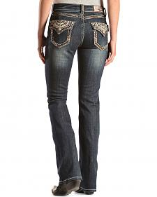 Grace in L.A. Copper Sequin Easy Fit Bootcut Jeans - Extended Sizes
