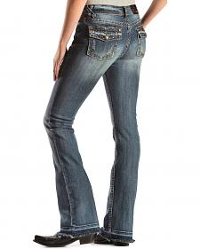 Grace in L.A. Embellished Easy Fit Bootcut Jeans - Extended Size
