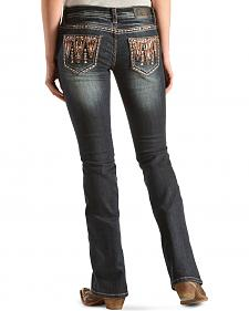 Grace in L.A. Sandra Embellished Bootcut Jeans