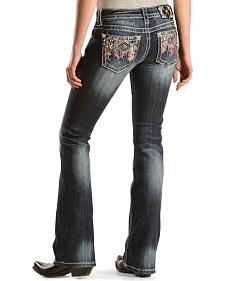 Miss Me Sunset Embellished Bootcut Jeans - Extended Sizes