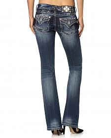 Miss Me Signature Fit Embroidered Flap Pocket Jeans - Extended Sizes