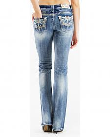 Grace in L.A. Women's Medallion Bootcut Jeans