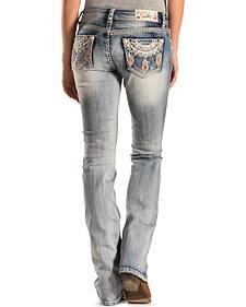 Grace in L.A. Women's Zig Zag Stitch Bootcut Jeans