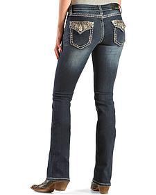 Grace in L.A. Women's Jewel Drop Embellished Bootcut Jeans