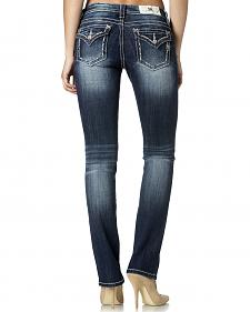 Miss Me Women's Mid-Rise Straight Leg Jeans
