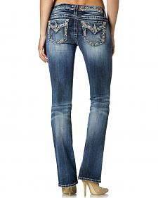 Miss Me Mellow Mayan Embellished Bootcut Jeans - Extended Sizes