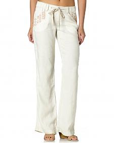 Miss Me Women's Aztec Embroidered Field Day Pants