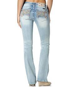 Miss Me Mid-Rise Aztec Bootcut Jeans