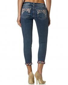 Miss Me Women's Party Treasure Cuffed Skinny Jeans