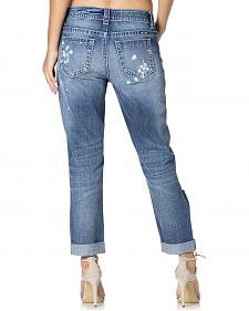 Miss Me Women's Distressed Boyfriend Ankle Jeans