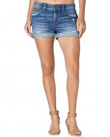 Miss Me Women's Roll Cuff Boyfriend Denim Shorts