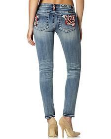 Miss Me Floral Pocket Skinny Jeans