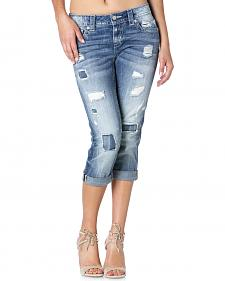 Miss Me Women's Rip-Repair Boyfriend Jeans