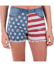 Others Follow Women's Patriot Flag Shorts