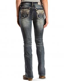 Grace in L.A. Easy Fit Embroidered Pocket Jeans - Boot Cut