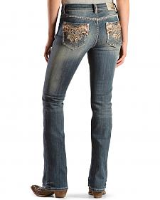Grace in L.A. Women's Sunshine Embellished Bootcut Jeans - Extended Sizes