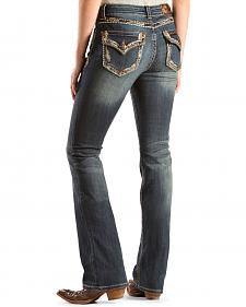 Grace in L.A. Women's Stella Embellished Bootcut Jeans - Extended Sizes