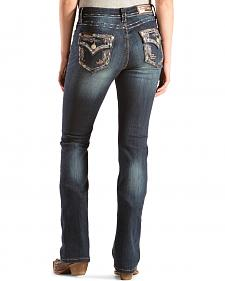 Grace in L.A. Women's Kai Embellished Bootcut Jeans - Extended Sizes
