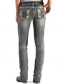 Grace in L.A. Women's Flower Child Bootcut Jeans