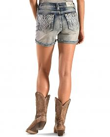 Grace in LA Silver Aztec Cutoff Shorts