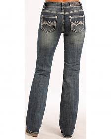 Rock and Roll Cowgirl Chevron Crossing Jeans - Boot Cut