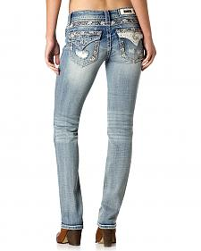 Miss Me Women's Speechless Keepsake Straight Leg Jeans