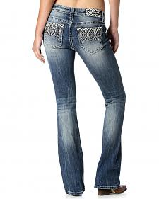 Miss Me Women's Aztec Embroidered Bootcut Jeans