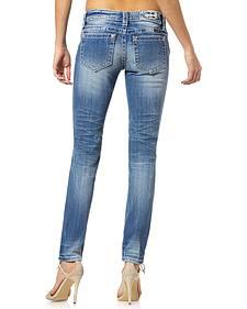 Miss Me Women's Diamond Cut Skinny Jeans