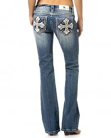 Miss Me Women's Crossover Bootcut Jeans